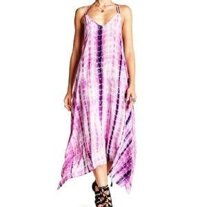 Love Stitch Hankerchief Tie Dye Maxi Dress